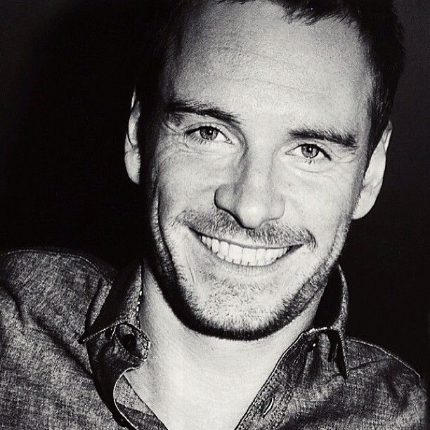 Michael fassbender smile men men men pinterest