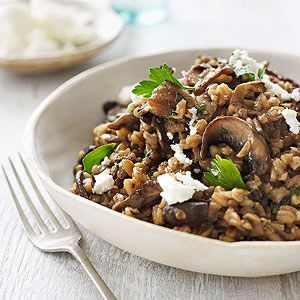 Great Whole Grain Recipes, including this Wild Mushroom Farro Risotto from Family Circle