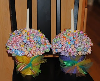 Birthday dum dum centerpieces