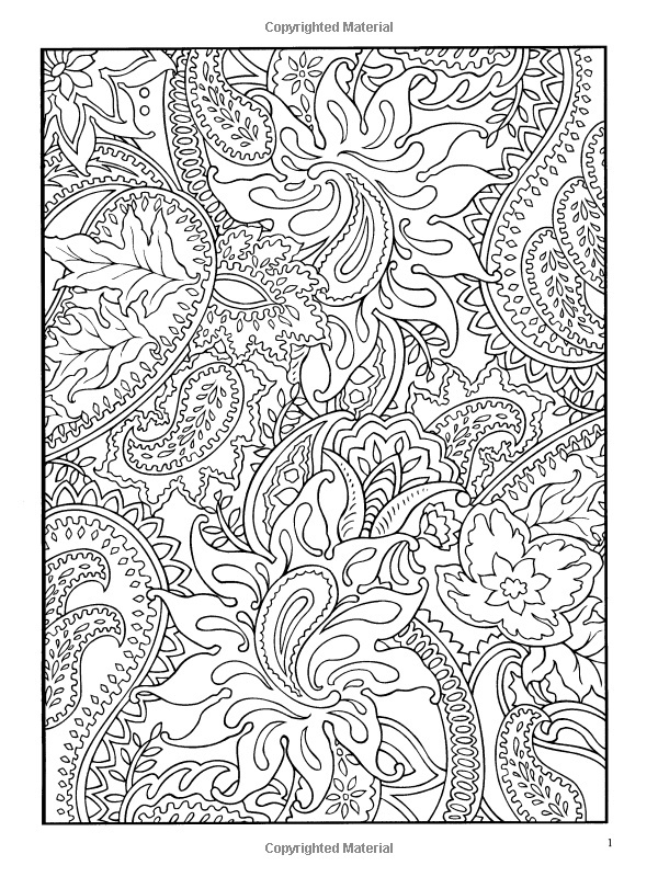 Paisly free coloring pages for Paisley elephant coloring pages