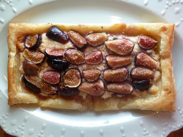 honey, fig and ricotta tart! 1 cup ricotta cheese, 2 tbs honey ...