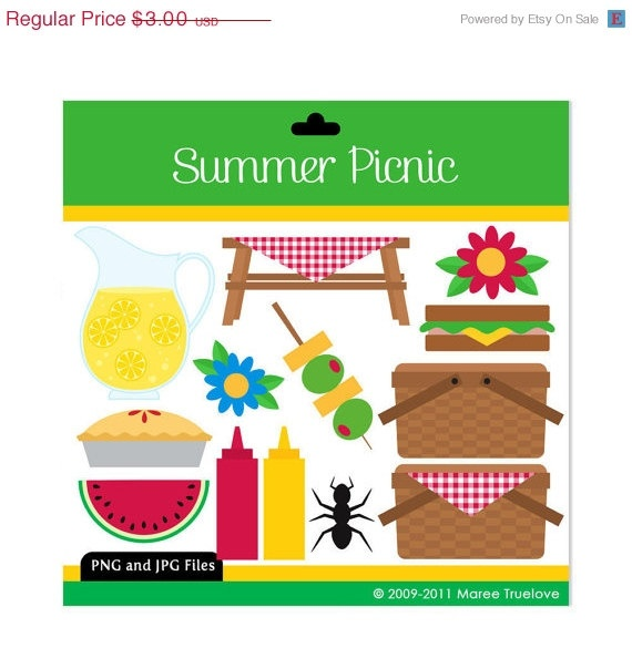 Summer Picnic Clipart ...
