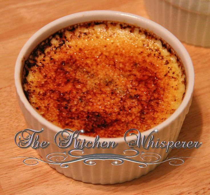 Vanilla Bean Creme Brûlée, I used two vanilla beans instead of one ...