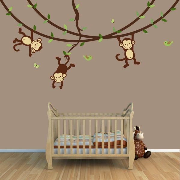 Wandgestaltung babyzimmer selber machen