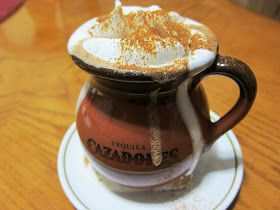 Mexican Hot Chocolate made with tequila and cayenne pepper