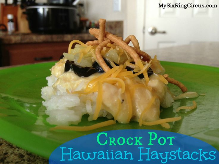 Hawaiian Haystack made in the Crockpot | ~ Cooking ~ | Pinterest