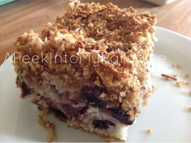 ... : Buttermilk Blueberry Breakfast Cake with Coconut Crumb Topping