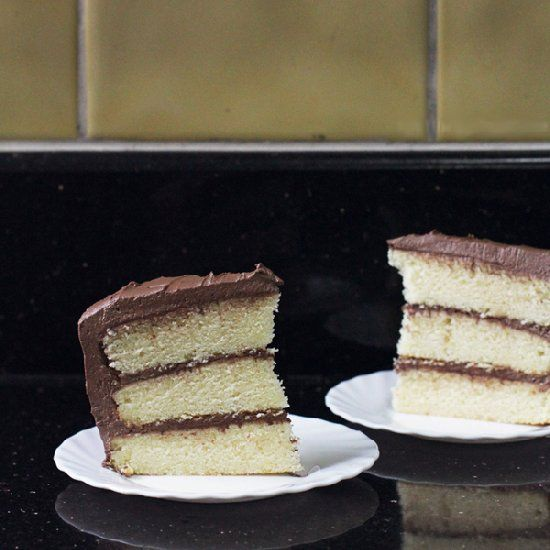 Lemon Cake with Chocolate Fudge Frosting | Let Me Eat Cake | Pinterest
