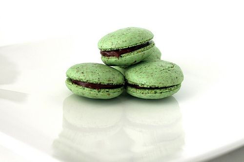 Pistachio Macarons {the sweet art} | Off the (Sweetly) Eaten Path | P ...