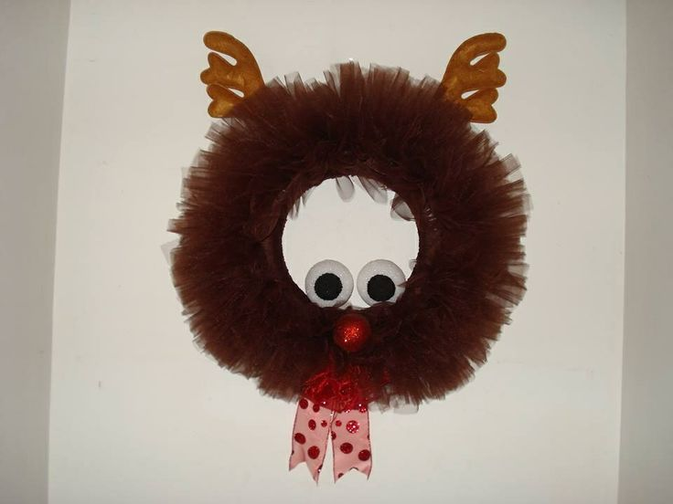 Rudolph the red nose Reindeer Wreath | Handmade by Melissa (thats me ...
