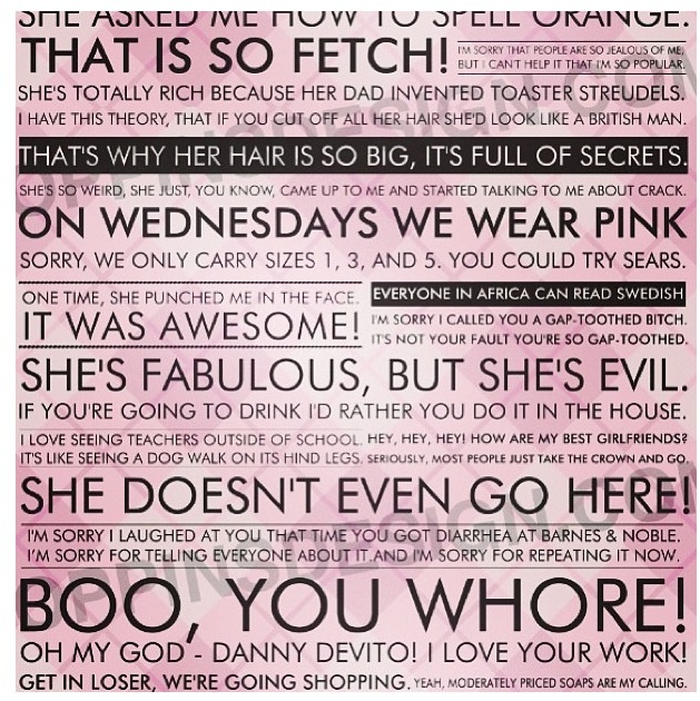 mean girls quotes funny quotesgram