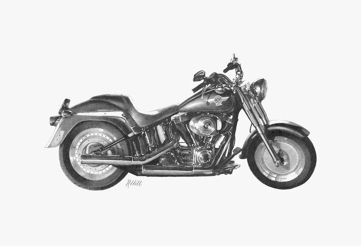 Harley davidson sketch motorbikes pinterest