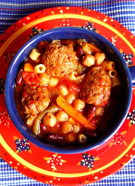 Meatball Minestrone Soup (Crock Pot) | Taste of Home | Pinterest