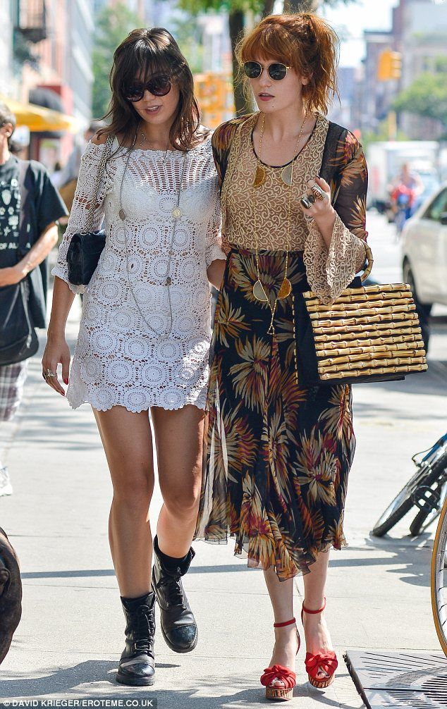 Florence Welch and Daisy Lowe enjoy a day out in New York this week