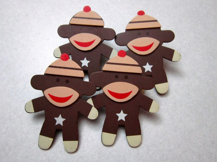 Decorative Outlet Socket Covers Sock Monkeys Baby and Kids Room Decor…