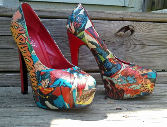 Superman - DC Comics - Comic Book Shoes - Heels Stilettos - Geekery