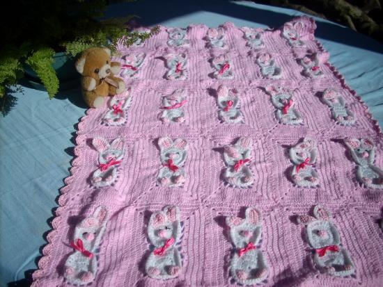Manta bebe artesanum com crochet pinterest - Manta de bebe a ganchillo ...