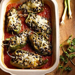 Poblanos Stuffed with Black Beans From Better Homes and Gardens, ideas ...