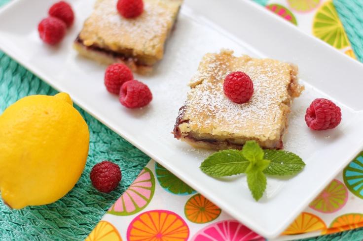 Lemon Raspberry Squares | Bars | Pinterest