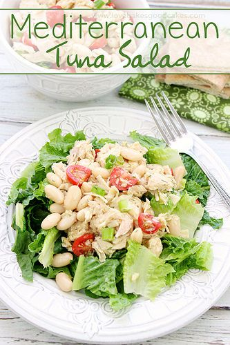 few simple ingredients, you can have this Mediterranean Tuna Salad ...