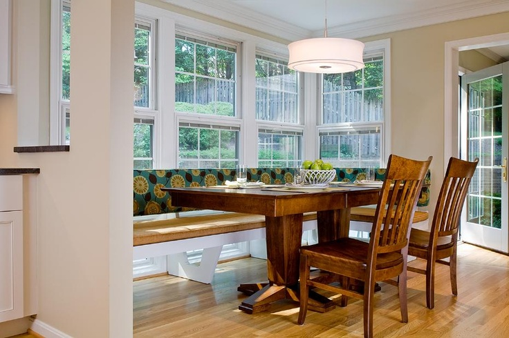 Breakfast nook with bench seating sunroom pinterest for Sunroom breakfast nook