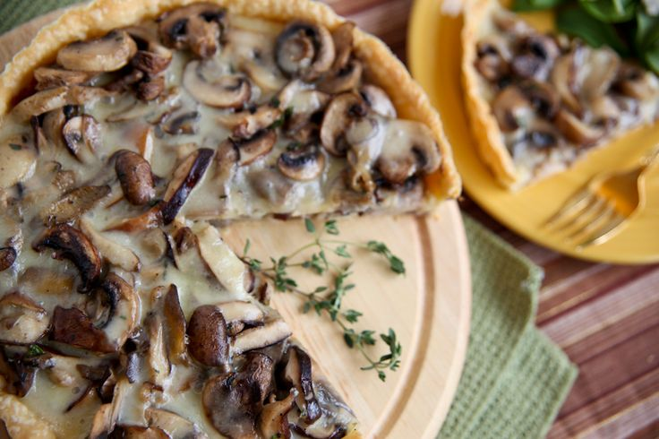 WILD MUSHROOM AND FONTINA TART | Mushrooms | Pinterest