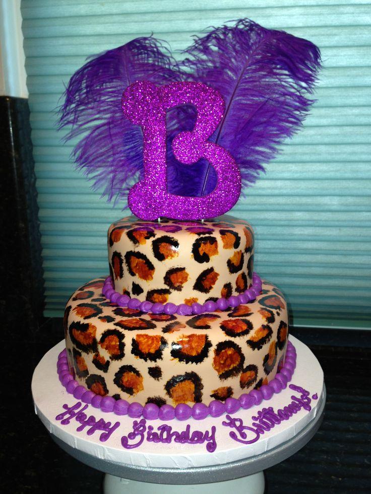 cheetah print cakes fondant