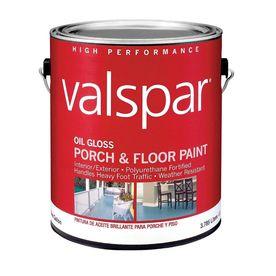 Valspar 116 fl oz exterior gloss porch and floor tintable for Exterior oil based paint