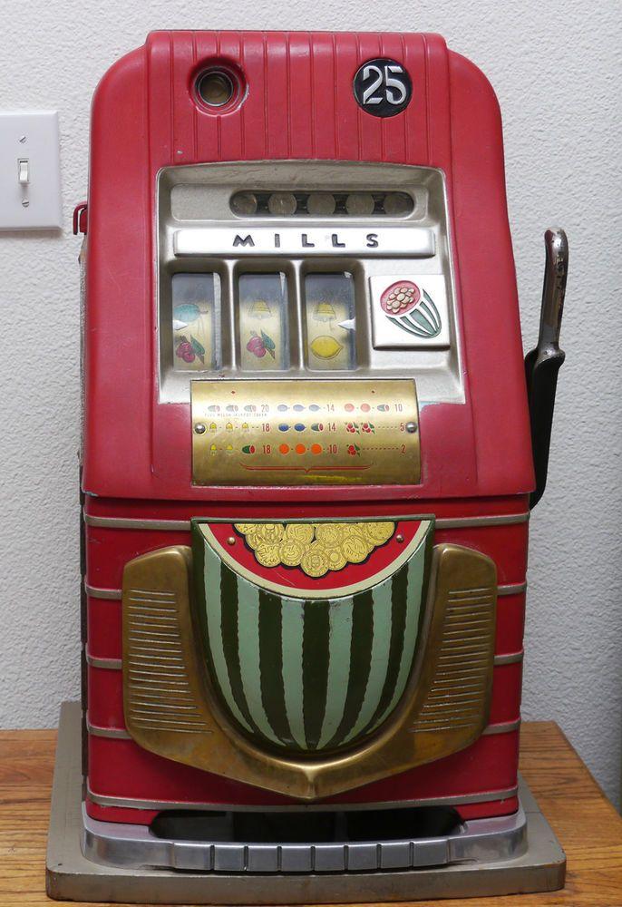 Vintage Estate Antique Mills High Top Watermelon Slot Machine SERIAL ...