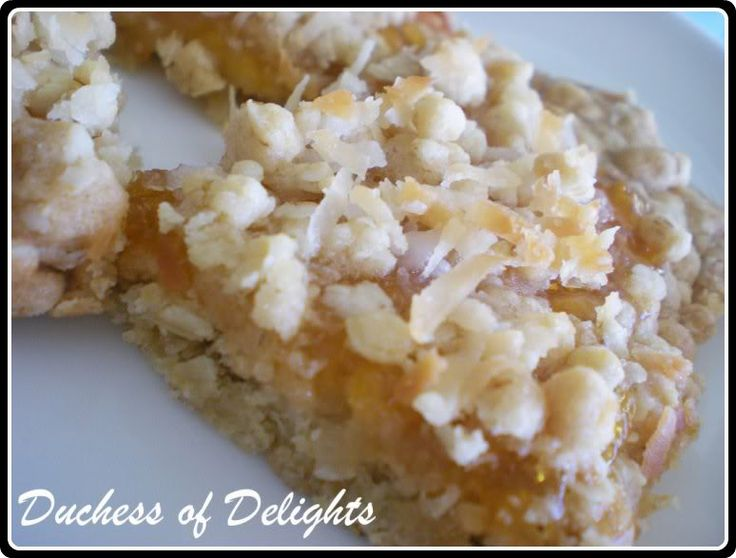 Duchess of Delights: Apricot Oatmeal Bars.... double the bar ingreds ...