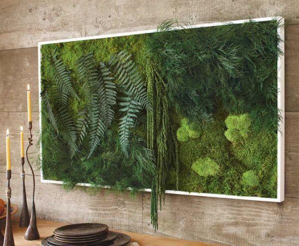 A beautiful example of a well-textured vertical garden.