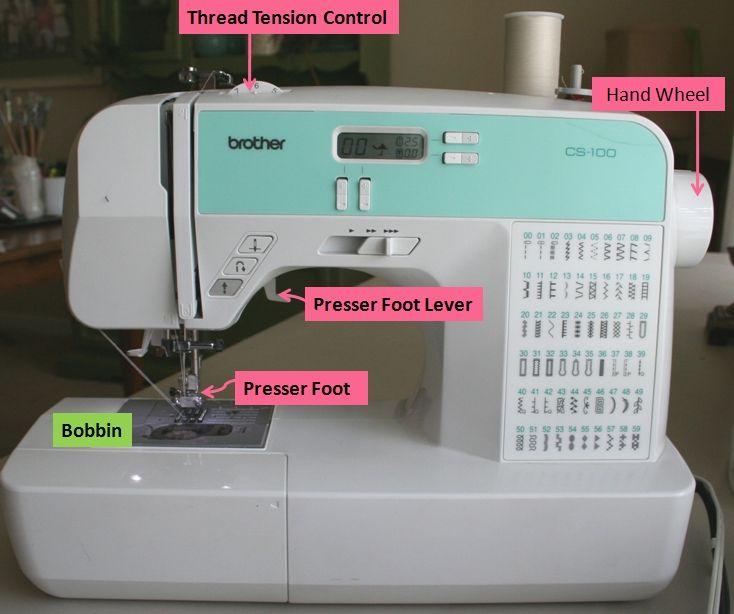 sewing machine on