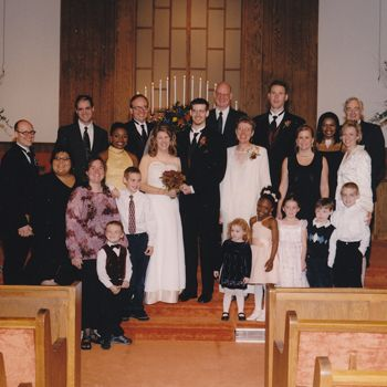 Pre-Pinterest Wedding blog.   Read here:  http://rachelheldevans.com/pre-pinterest-wedding