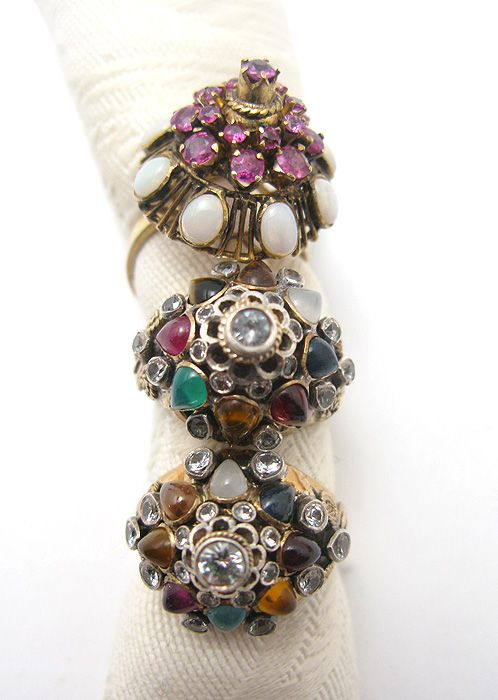 some of our vintage thai princess rings