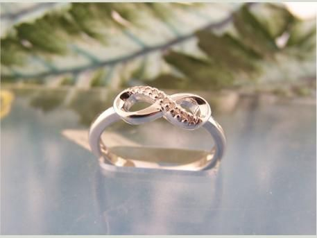 Sterling Silver Infinity Diamond Fashion Ring | Bridal Jewelry from