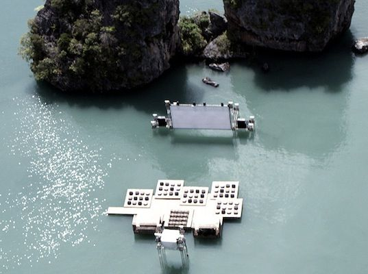 Floating cinema in Thailand
