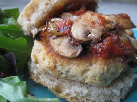 Tuscan White Bean Burgers Recipe — Dishmaps