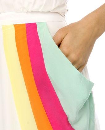 patchwork pocket in spring colors