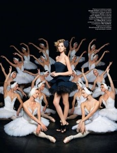 Russia's Vogue featuring fashion in ballet!
