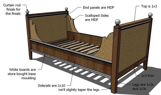 Diy day bed sewing amp crafts pinterest
