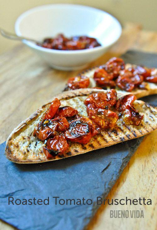 Roasted Tomato Bruschetta   Yummy Food =)   Pinterest
