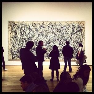Deze action painting van Jackson Pollock in het MOMA New York brengt jeugdherinneringen terug.