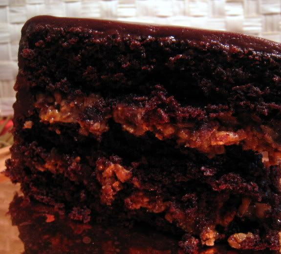 Inside Out German Chocolate Cake | 05 Sweets | Pinterest