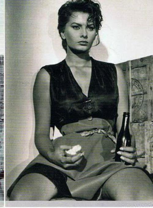 Retro beauty Sophia Lo...
