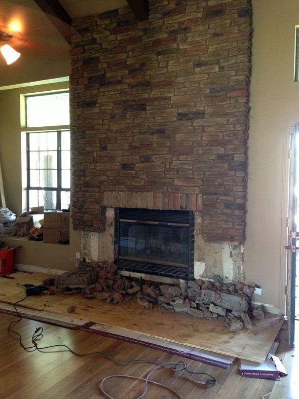 Fireplace Facade Ideas : Fireplace facade re-do  Project ideas  Pinterest
