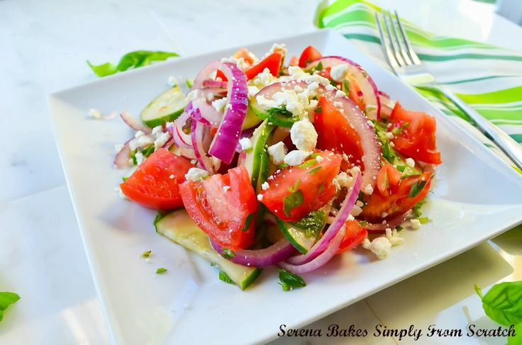 TOMATO-CUCUMBER-HERB-SALAD-BALSAMIC-VINAIGRETTE = 7 whole Ripe Beef ...