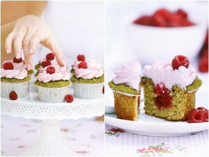 Cupcakes pistacjowe z malinami | Muffin & Cupcake-Kleine Kuchen | Pin ...