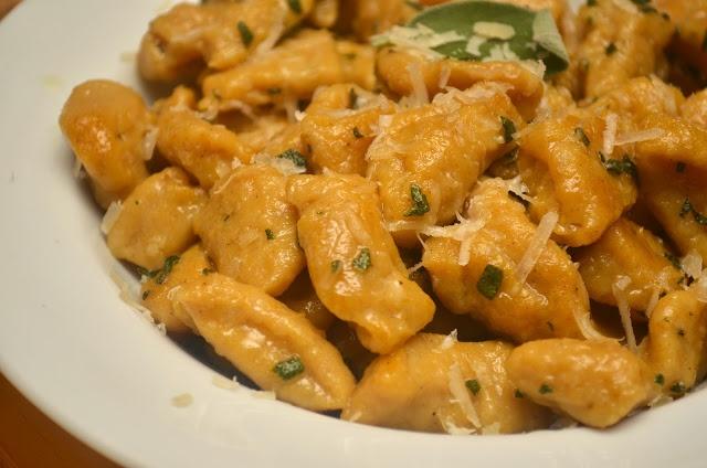 Pumpkin Gnocchi with Crisped Sage and Parmigianno-Reggiano