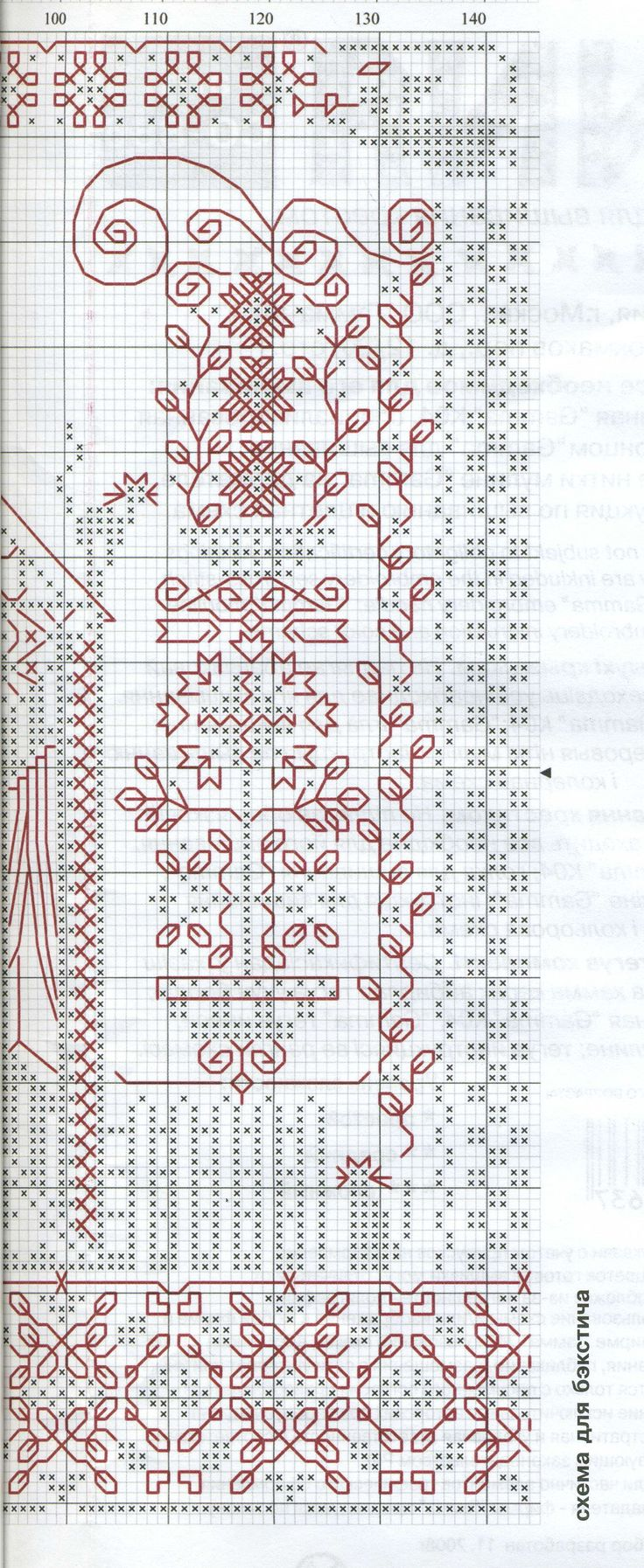 Схема вышивки оберега для дома 6