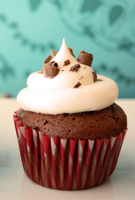 Black Tie Cupcakes Doctored chocolate cake mix (pudding, sour cream ...